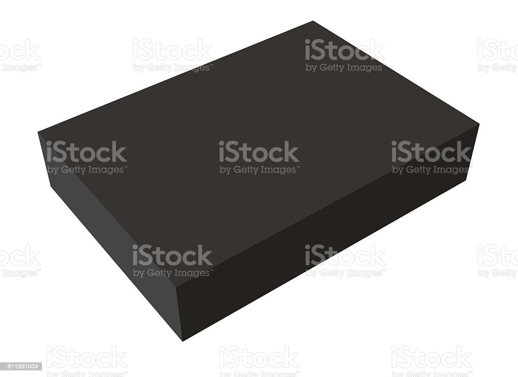 Blank box on white background stock photo