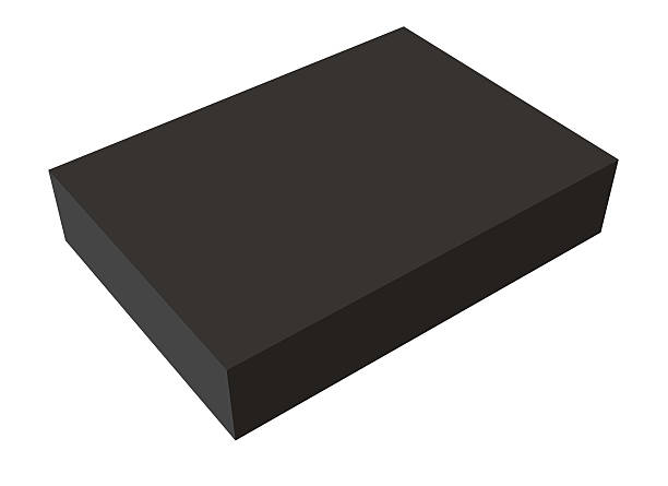 Blank box on white background stock photo