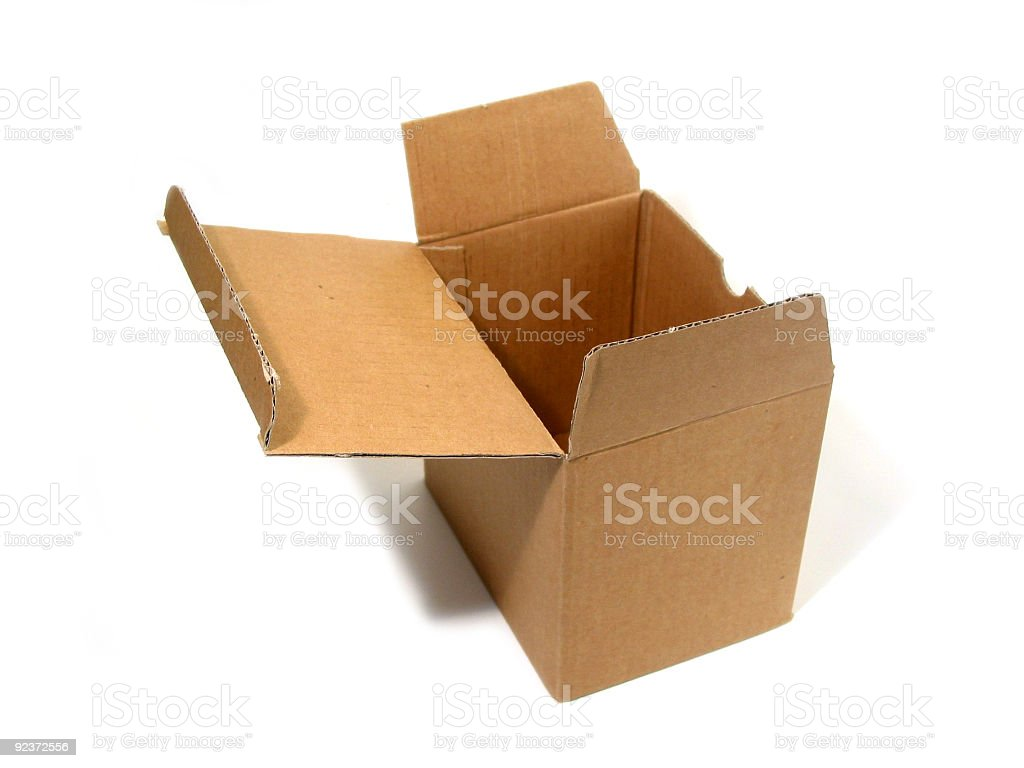 Blank box open royalty-free stock photo