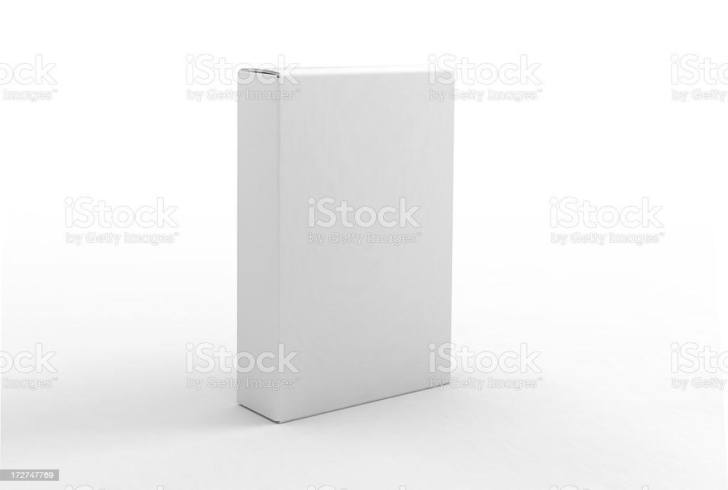 Modelo em branco caixa - foto de acervo