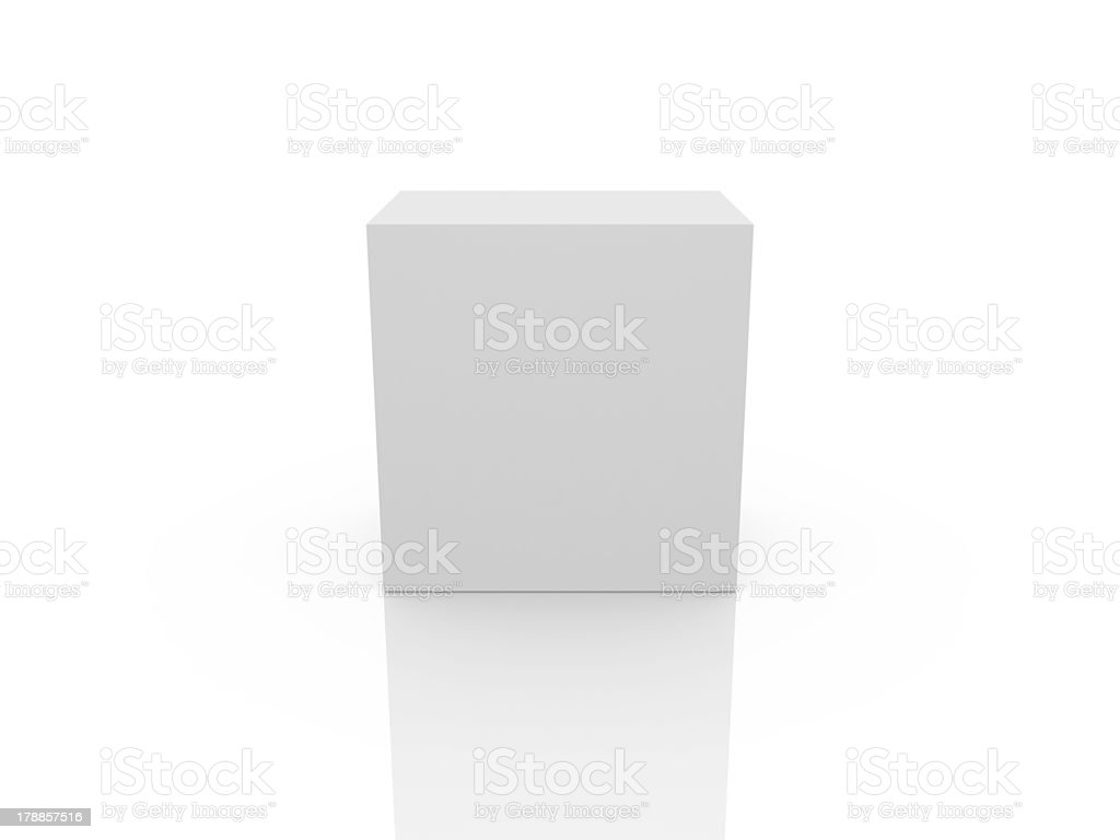 Blank Box Template royalty-free stock photo