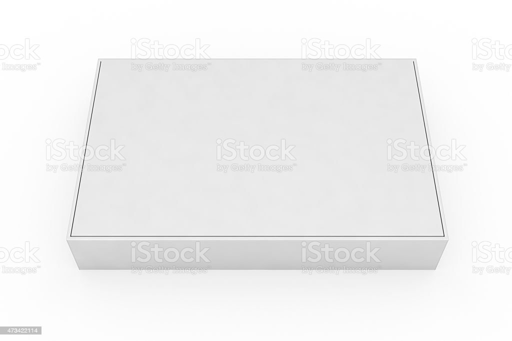 Blank Box With Lid stock photo