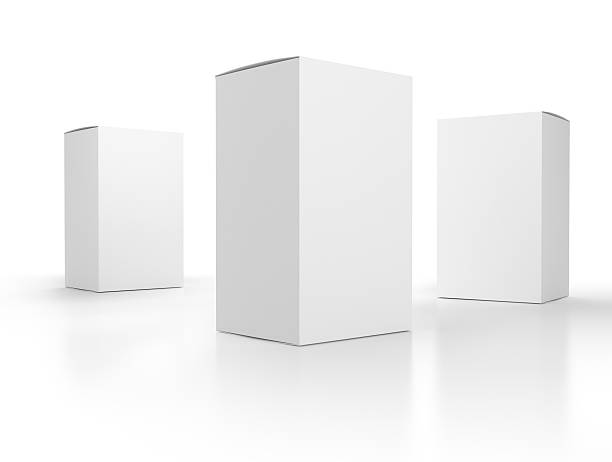 blank boxes composition stock photo