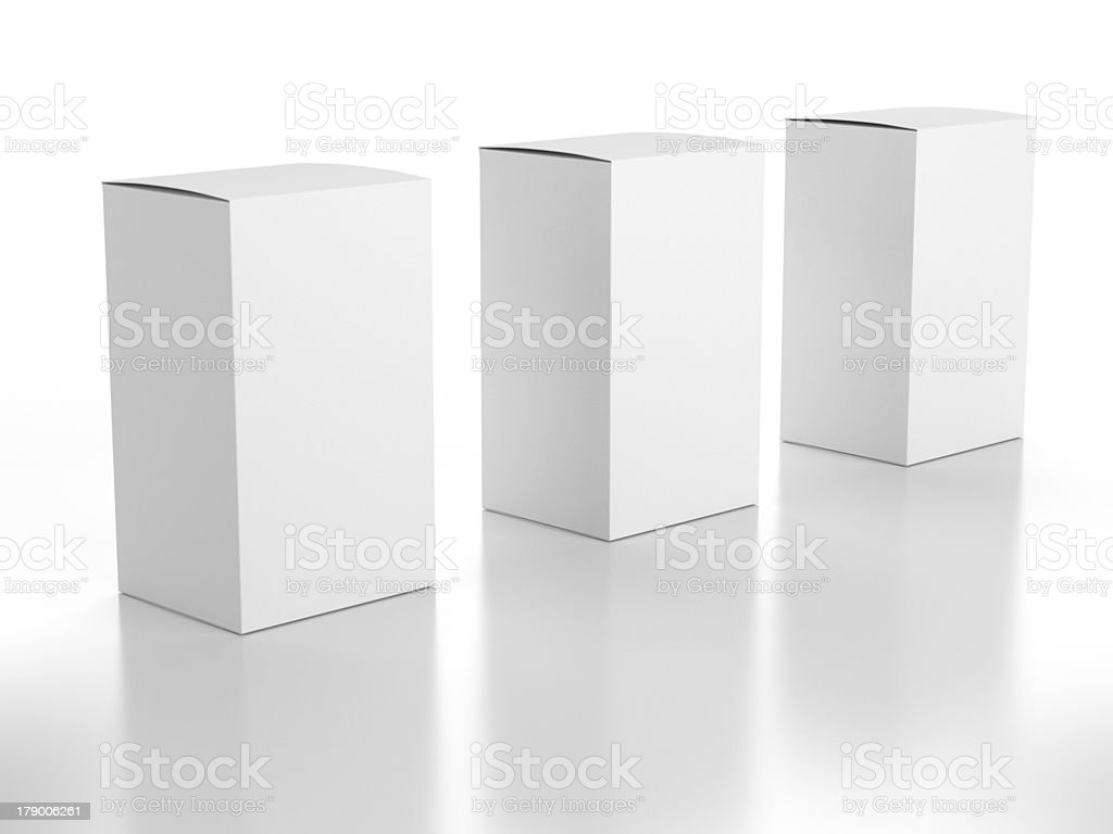 blank boxes composition royalty-free stock photo