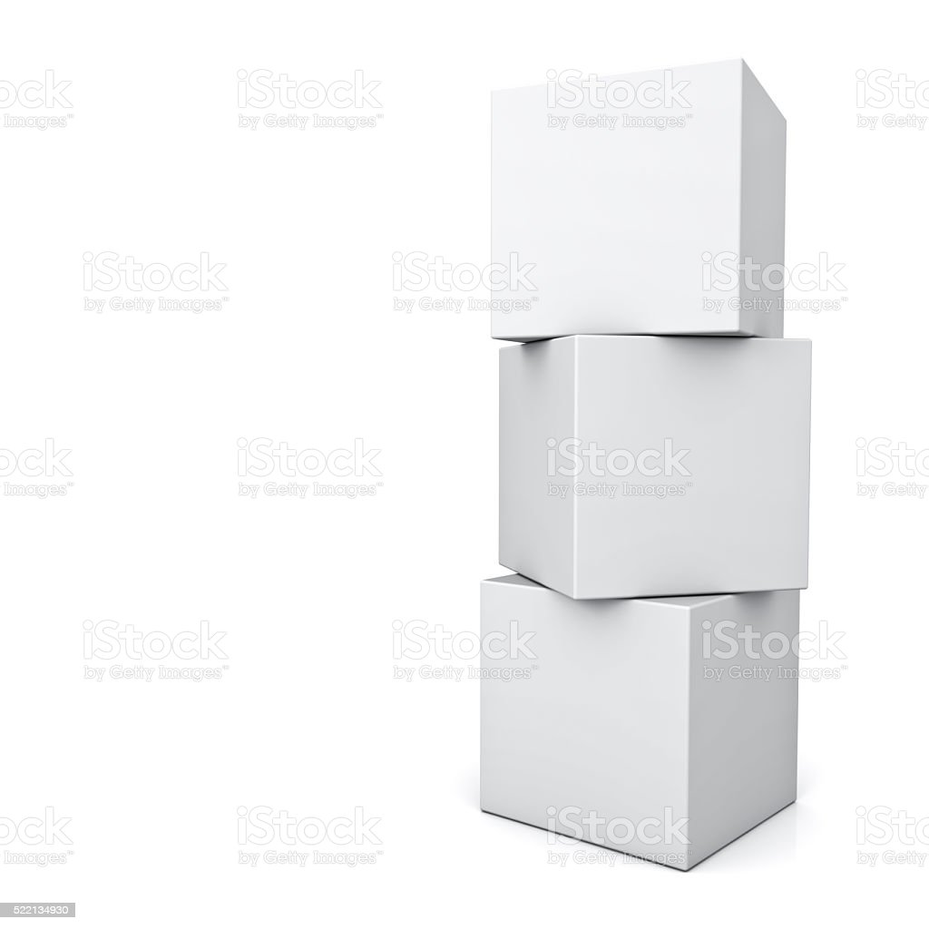 Blank boxes stock photo