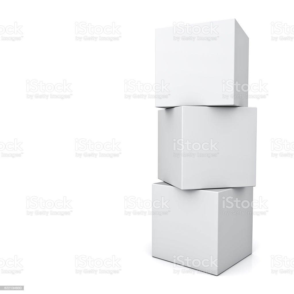 Caixas em branco - foto de acervo
