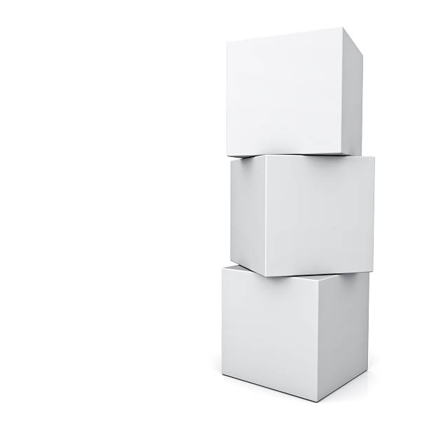 blank boxes - cube shape stock pictures, royalty-free photos & images