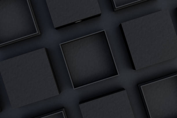 blank boxes stock photo