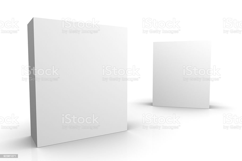 Blank boxes royalty-free stock photo