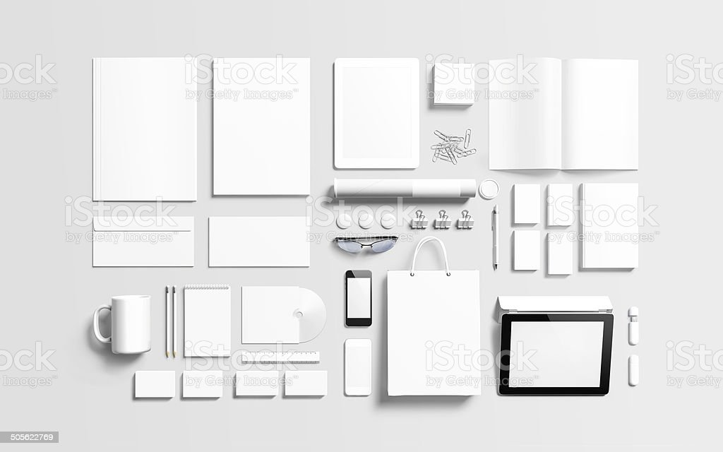 Blank branding elements to replace your design stock photo