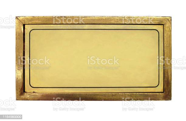 Blank brass nameplate isolated over white background picture id1154583300?b=1&k=6&m=1154583300&s=612x612&h=wy3ptkjhareomsacqryt7viw2gzjt9cculjsy5xm0rq=