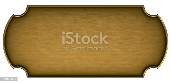 Nameplate with space for text or logo. Empty store sign. 3d render.