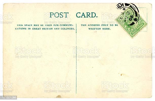 Blank British Edwardian postcard, 1906