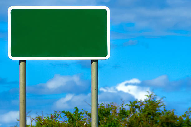 blank british road sign - road signs stock photos and pictures