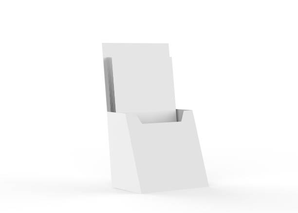 Blank Brochure Holder stock photo