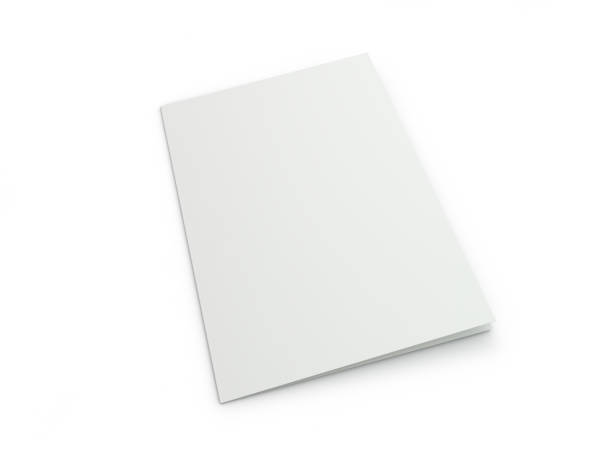 blank brochure magazine isolated to replace your design. 3d - magazine cover stock photos and pictures