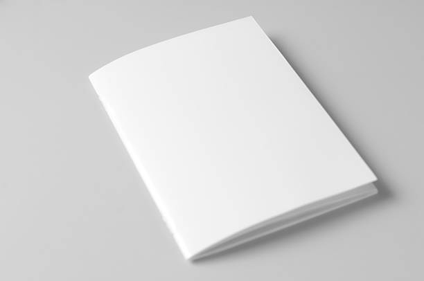Blank brochure on white background Helps graphic designers to present their work in an effective way. Makes it easy for clients to get an image of the actual