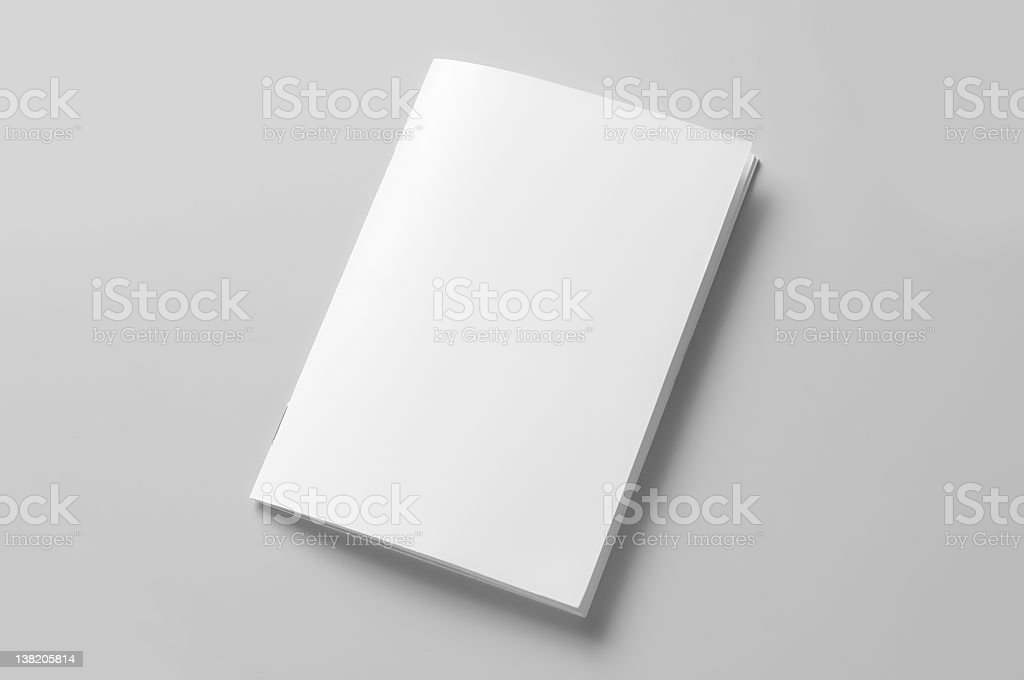 blank brochure stock photo