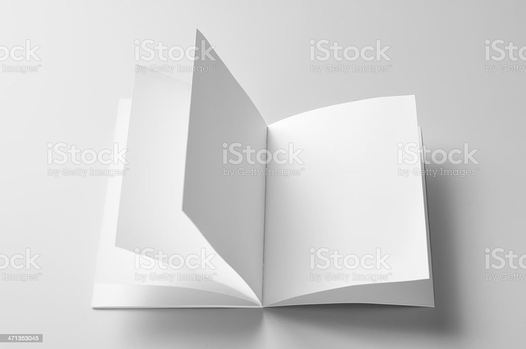 blank brochure royalty-free stock photo