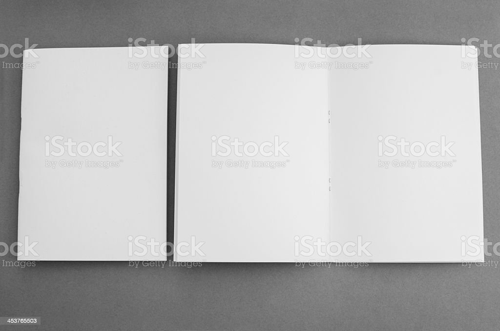 Blank brochures from above royalty-free stock photo
