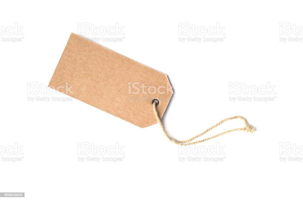 Étiquette de prix carton brun blanc ou une balise d'étiquette photo libre de droits