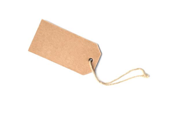 em branco marrom preço cartão ou etiqueta de etiqueta - tag - fotografias e filmes do acervo