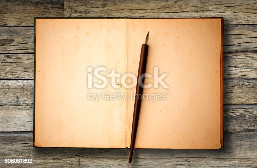 istock Blank brown old paper 808081892