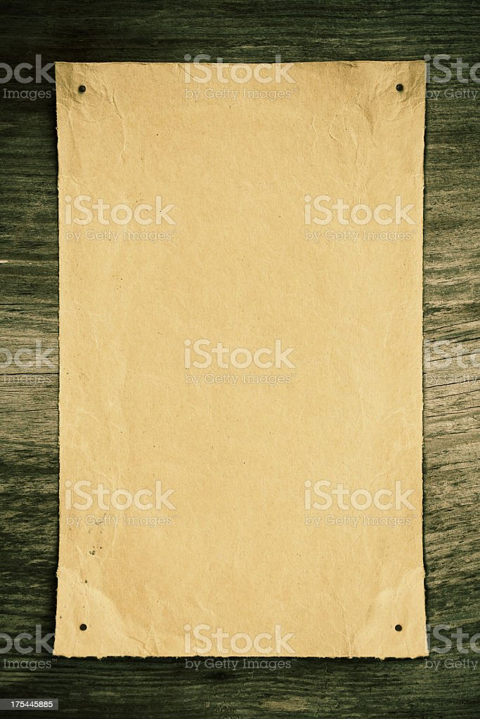 Blank Brown paper notice background textured royalty-free stock photo