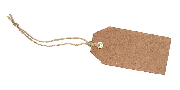 blank brown tag - gift tag note stock photos and pictures