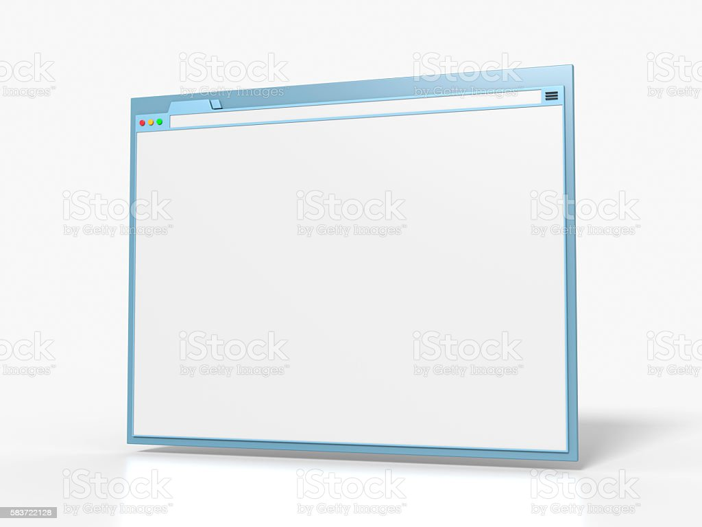 Blank Browser Window stock photo