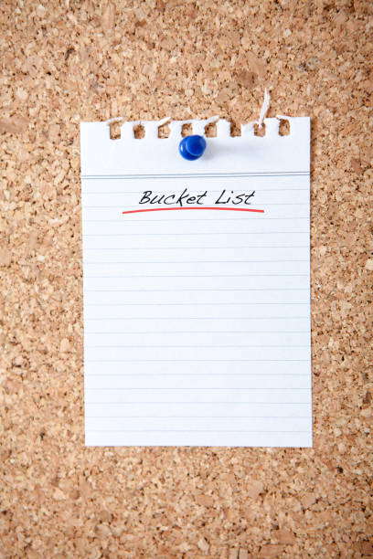 Blank Bucket List stock photo
