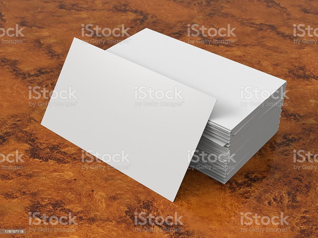 Blank Buisness Card royalty-free stock photo