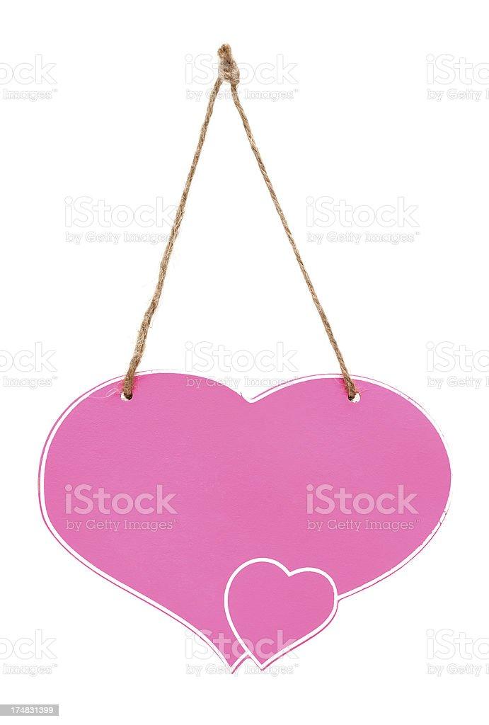 Blank bulletin board  with heart shape royalty-free stock photo
