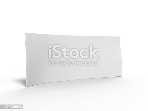istock Blank Bumper sticker for branding. 3d rendering illustration. 1097438836