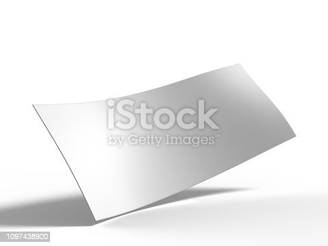 istock Blank Bumper sticker for branding. 3d rendering illustration. 1097438920