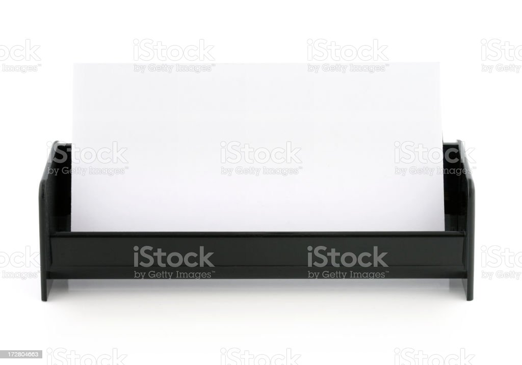 Blank Business Card and Holder royalty-free stock photo