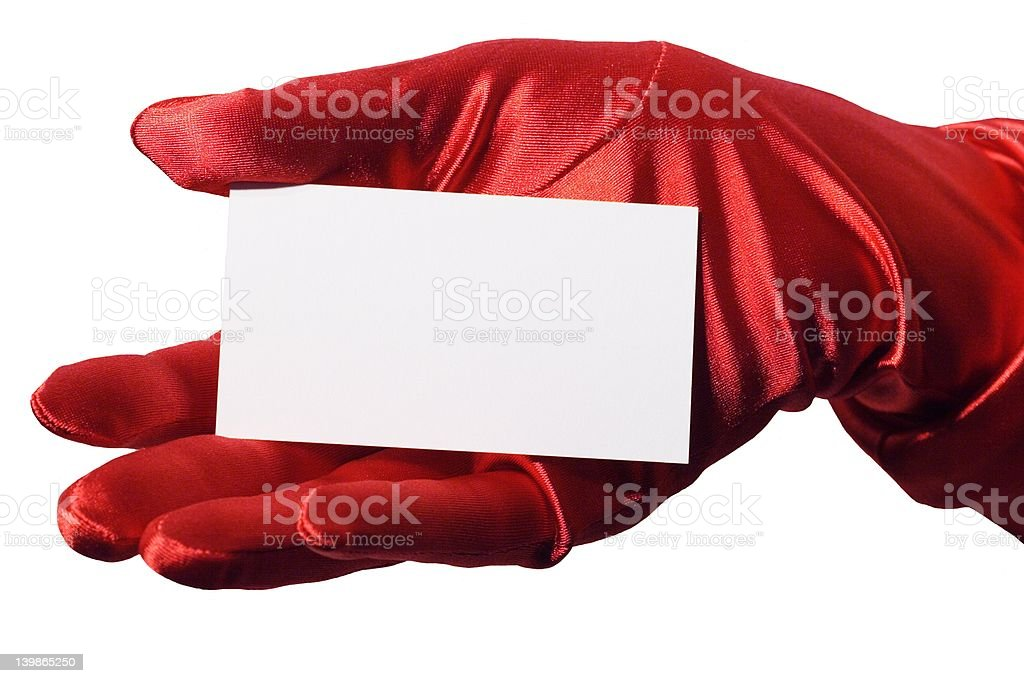 Blank Business Card Hers stock photo