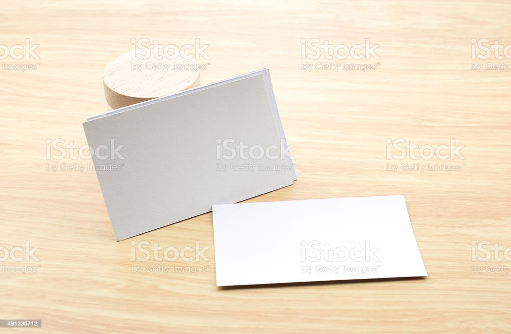 Blank business card mock up with blank wooden round piece stock blank business card mock up with blank wooden round piece royalty free stock photo reheart Choice Image