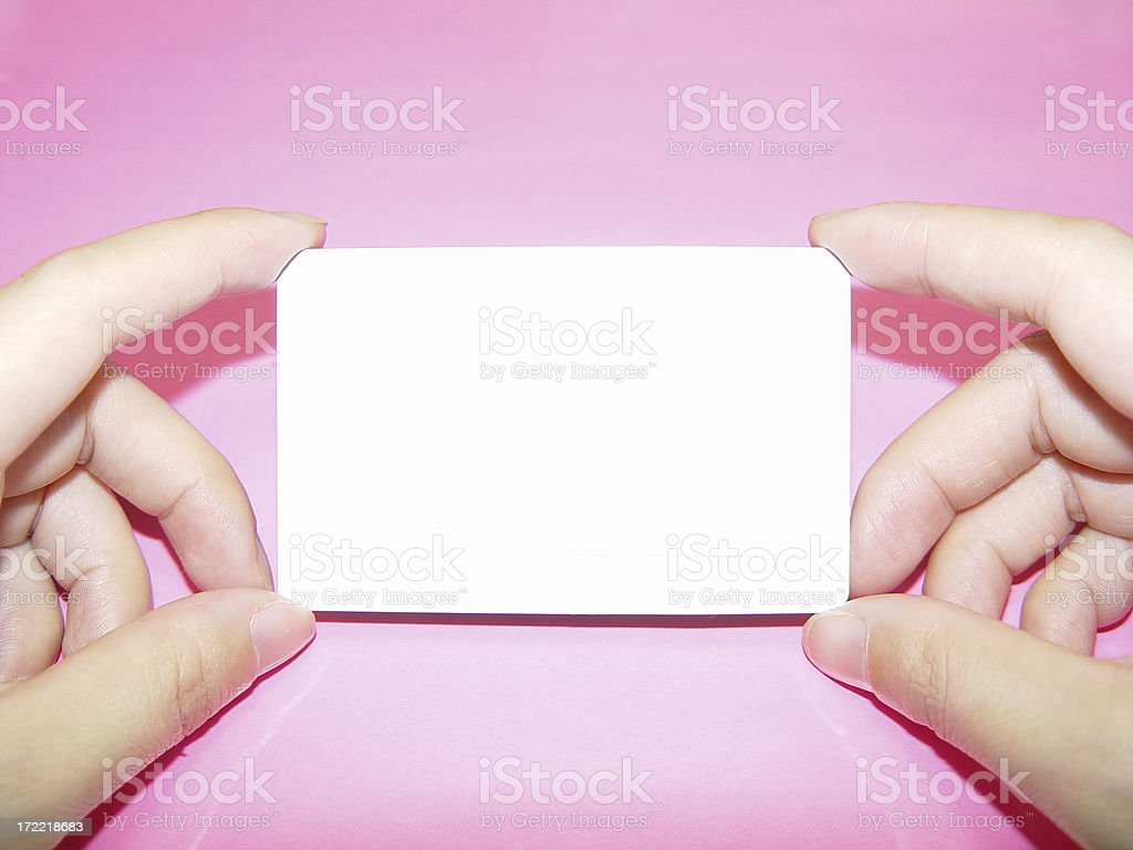 Blank Business Card or Credit Card royalty-free stock photo