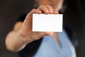 istock Blank business card 161332810