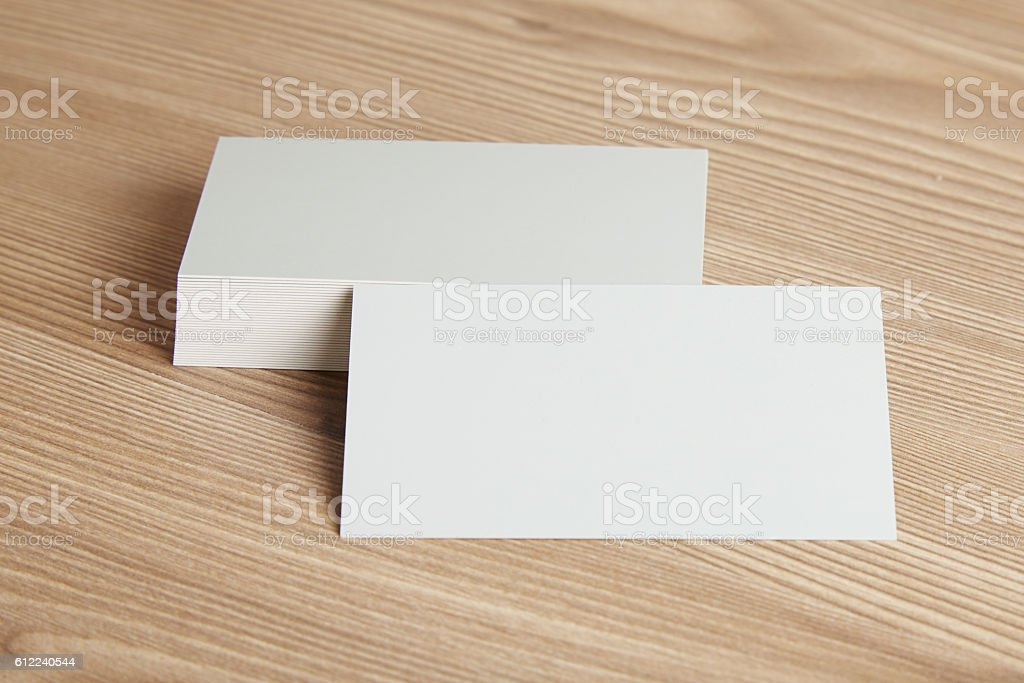Blank Business Card Stock Photo & More Pictures of Blank | iStock