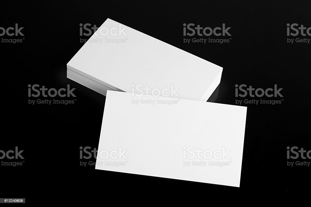 Blank business card stock photo more pictures of black color istock blank business card royalty free stock photo reheart Gallery