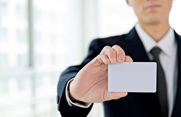 Cartão de negócio em branco  - foto de acervo