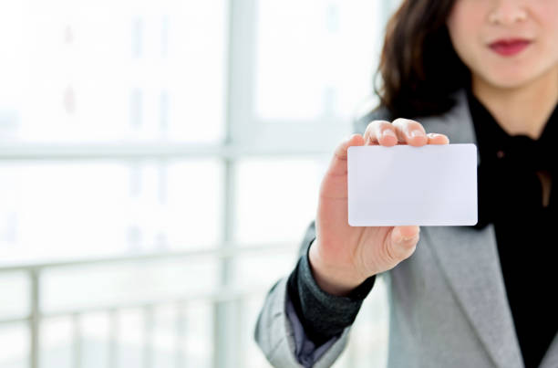 blank business card - identity card stock photos and pictures