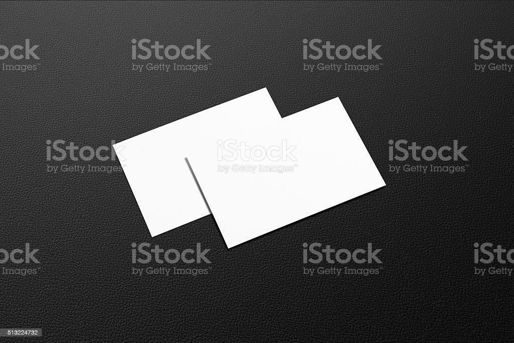 Visitenkarten Blanko Mockup Isoliert Auf Schwarzem