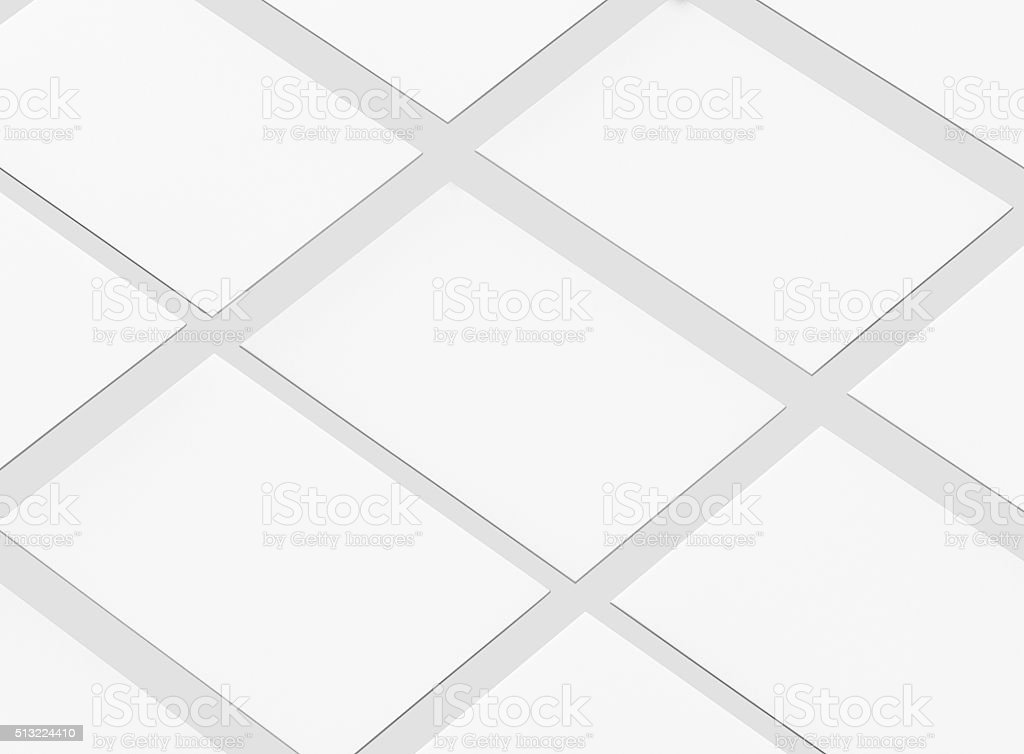 Blank Business Cards mockup isolated on white. stock photo