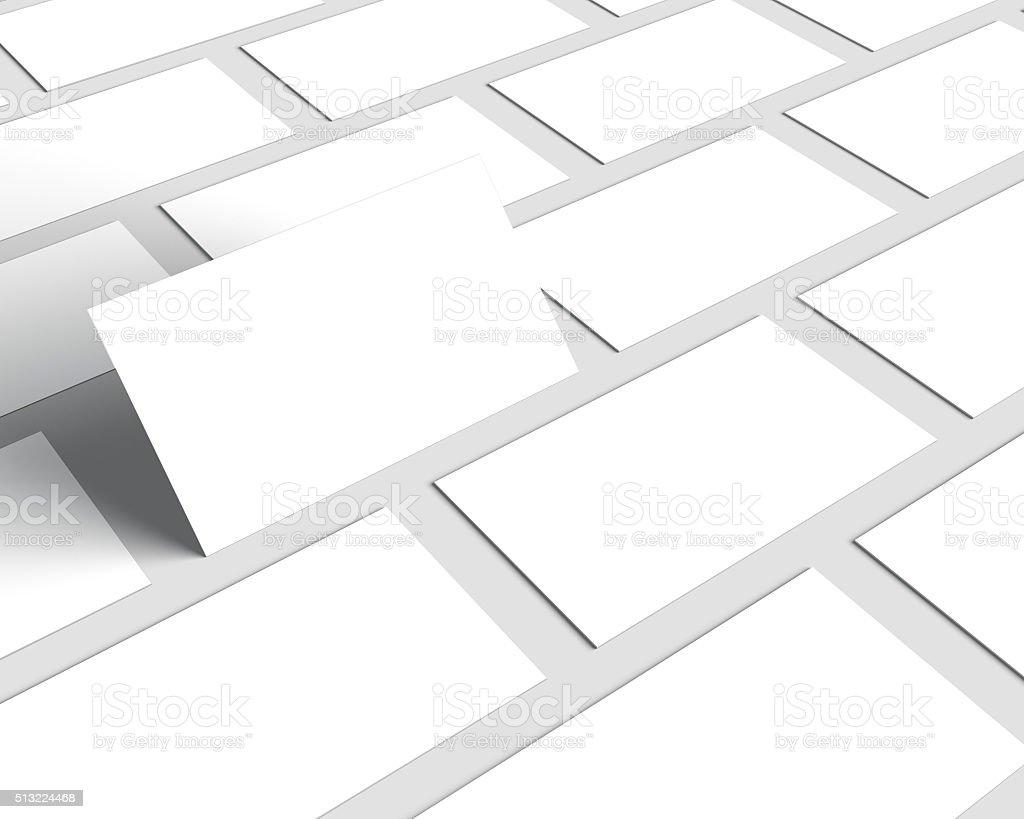 Visitenkarten Blanko Mockup Isoliert Auf Weiß Stockfoto Und