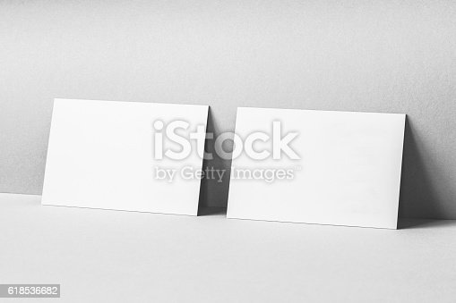 istock Blank Business Cards Mockup 618536682