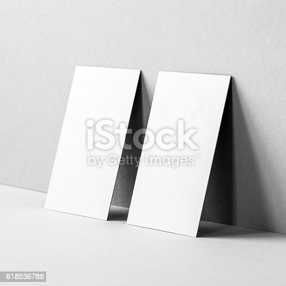 istock Blank Business Cards Mockup 618536788