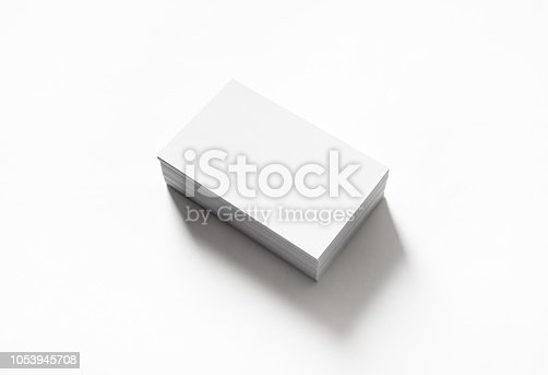 istock Blank business cards 1053945708